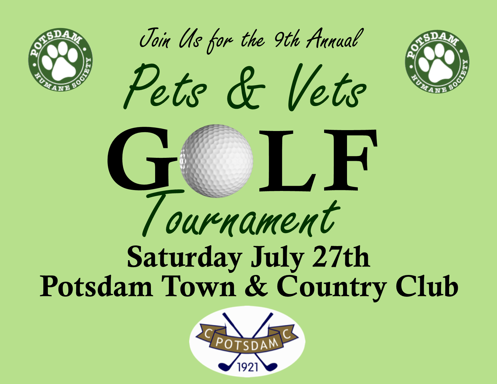 <a href='http://potsdamhumanesociety.org/wp/?p=8432'>9th Annual Golf Tournament </a>