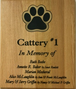 Plaque - Cattery 1 donors