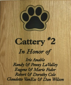 Plaque - Cattery 2 donors