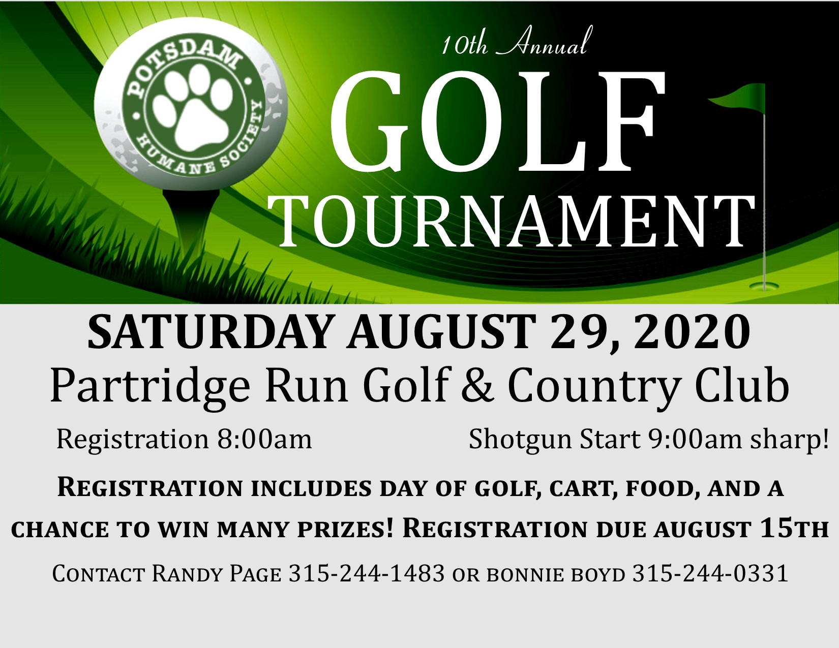 <a href='http://potsdamhumanesociety.org/wp/?p=10090'>10th Annual Golf Tournament</a>